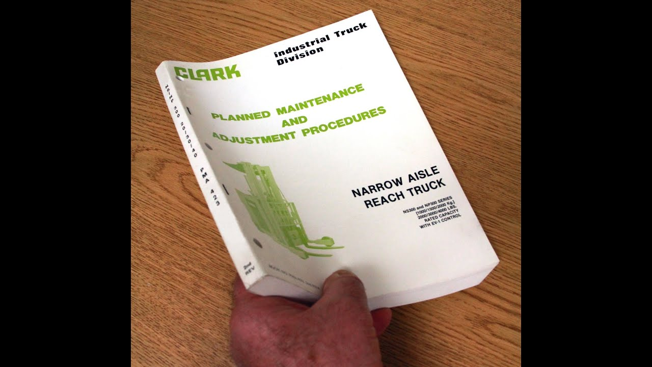 maxresdefault clark forklift manual ns300 series np300 series reach  at fashall.co
