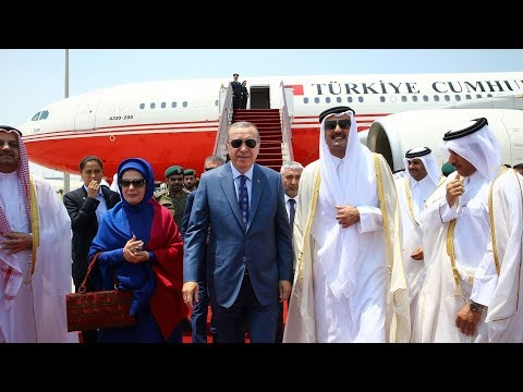 Turkish president arrives in Qatar amid ongoing Gulf dispute