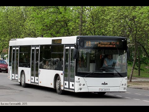 Автобус Минска МАЗ-203.076,гос.№ АК 2017-7, марш.921 (24.04.2019)