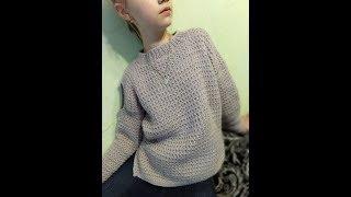 Модный свитер для девочки. 2 часть.