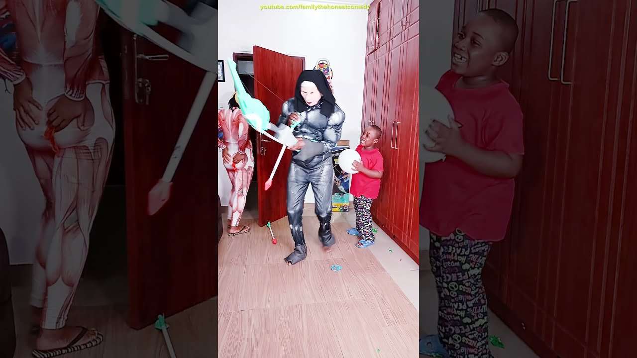 Funny Prank try not to laugh DUDE PERFECT NERF BOW MONSTER Scary GHOST vs Funny Alien TikTok comedy