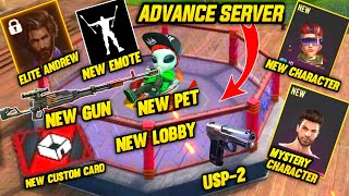 New Advance Server First Look New Character,New Pet,Elite Andrew,New Emote,New Gun,New Lobby