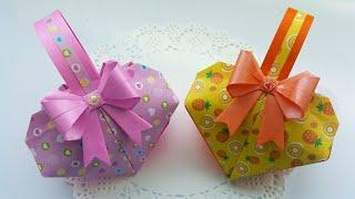 하트가방 종이접기 사탕바구니접기 하트가방만들기 어린이날…