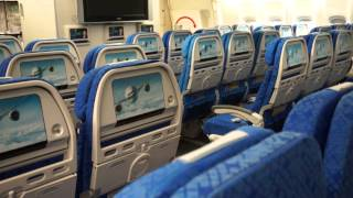 Cathay Pacific City tour - 777 mockup and new Economy Class seats