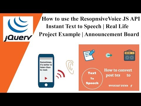 How to use the ResopnsiveVoice JS API | Instant Text to Speech | Real Life Project Example 🔥🔥