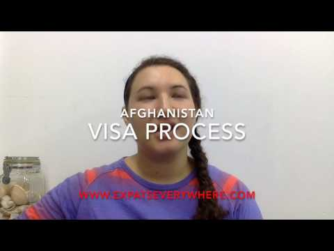 ExpatsEverywhere: Getting a Visa for Afghanistan