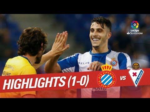 Resumen de RCD Espanyol vs SD Eibar (1-0)