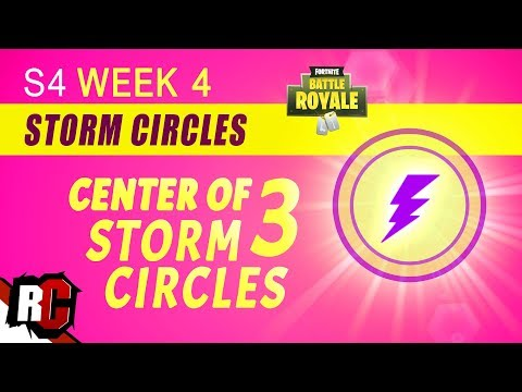 Fortnite   How to find CENTER OF STORM CIRCLE Week 4 Challenge (3 Storm Circles in 1 Round)