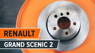Sådan udskifter du bremseskiver bag og bremseklodser på RENAULT GRAND SCENIC 2 GUIDE | AUTODOC