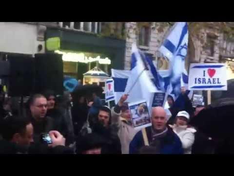 Pro Israel Rally In Dublin Ireland, November 2012