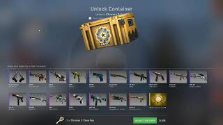 Opening a CS:GO case til a gold appears... DAY 303