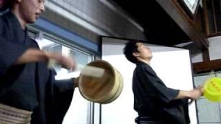 「ふろいこか~」2010大阪 寿湯での桴桴風呂おけ太鼓演奏