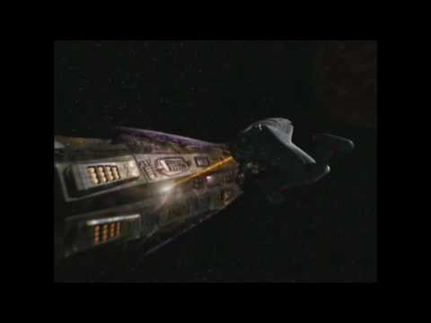 Voyager vs Hirogen Vessels