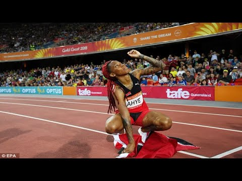 Trinidad and Tobago's Michelle-Lee Ahye claims women's 100m gold as England's Asha Philip misses
