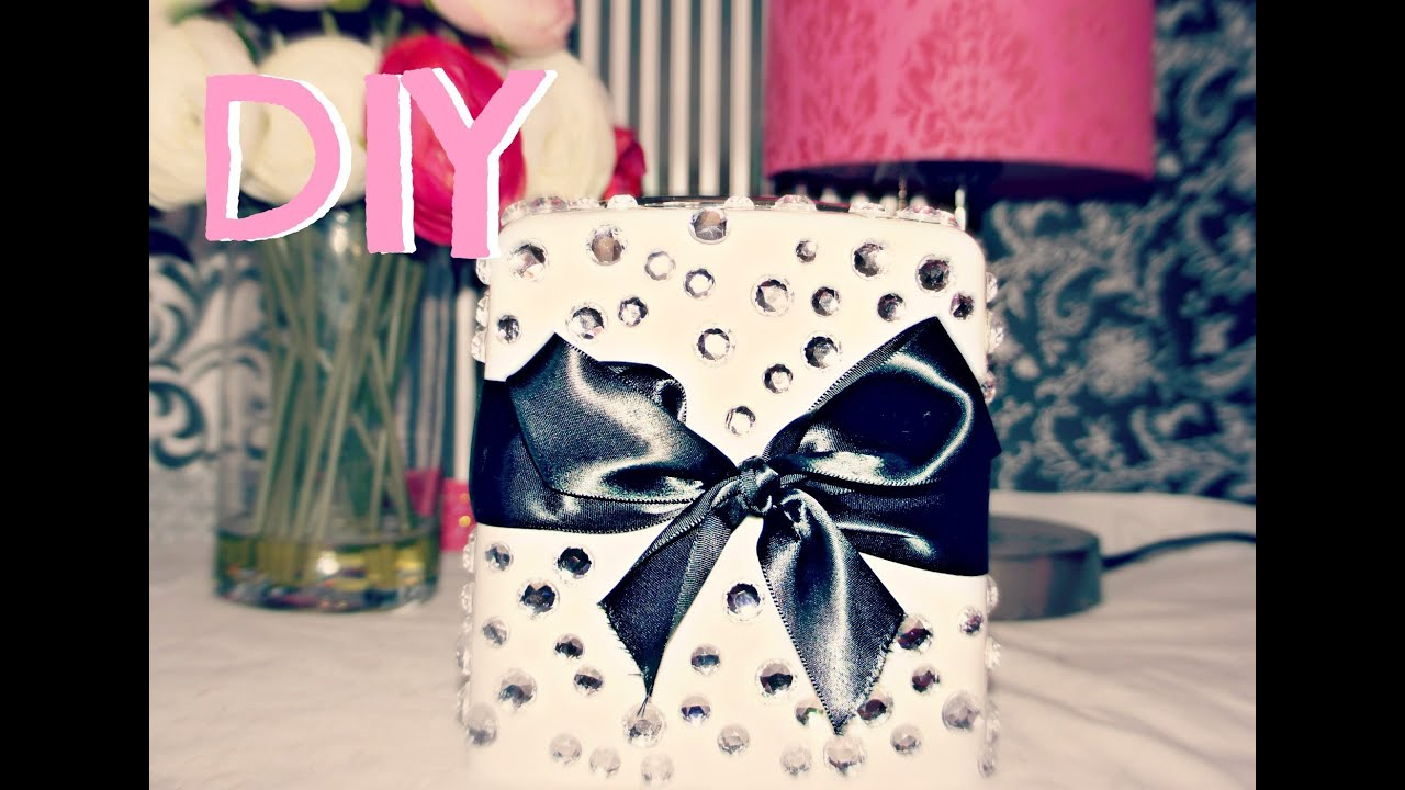 diy room decor- cute tissue box - youtube