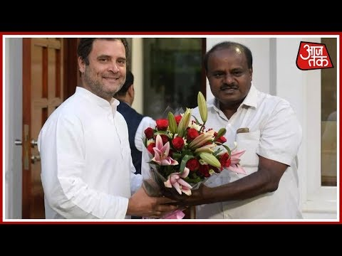 HD Kumaraswamy Meets Rahul And Sonia Gandhi, Invites Them For Oath Taking Ceremony | 100 Khabar