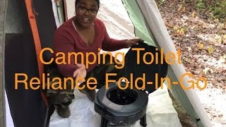 Camping Toilet - Reliance Fold-to-Go Toilet in REI Kingdom 6 Vestibule