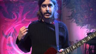 Mikael Åkerfeldt on his signature PRS SE model - PRS All Access with Opeth