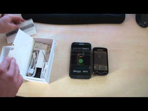 Unboxing Samsung Galaxy Note 2 II GT-N7100 vs GT-B7610