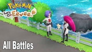 Pokémon: Let's Go, Pikachu! and Let's Go, Eevee! - All Team Rocket Jessie and James Battles