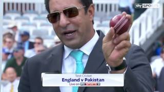 vuclip Wasim Akram on Muhammad Amir Bowling Technique England v Pakistan 1st Test 2016
