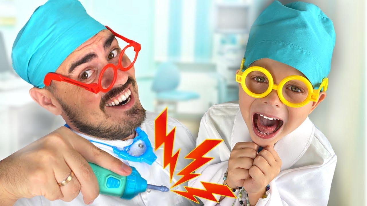 Платоха Моха играет в больницу и доктора. Сборник видео для детей