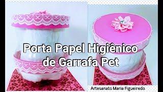 Porta Papel higiênico de Garrafa Pet – Passo a passo fácil e rápido