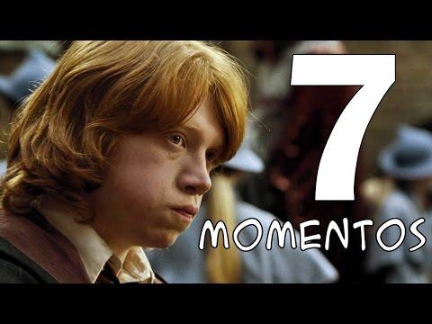 7 MOMENTOS mais engraçados do Rony nos filmes de Harry Potter!