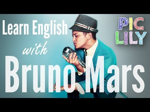 Learn English with Bruno Mars - The Lazy Song (Picture Lyrics and Subtitles)