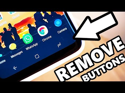 Samsung Galaxy S9 Remove Software Buttons - Immersive MODE - YouTube