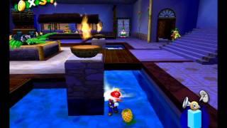 Super Mario Sunshine (GC) Shine Sprite 60 - Sirena Beach - Mysterious Hotel Delfino