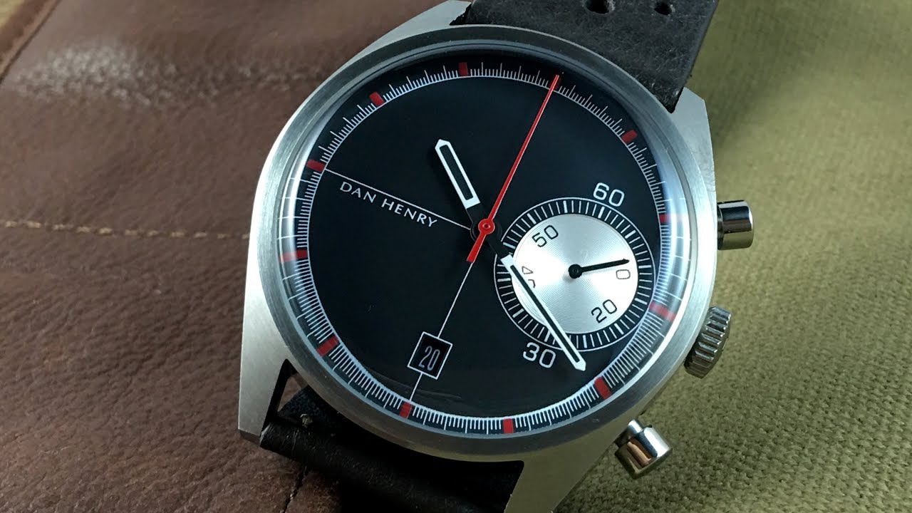 Dan Henry 1968 Racing Chronograph : Funky throwback style. - YouTube