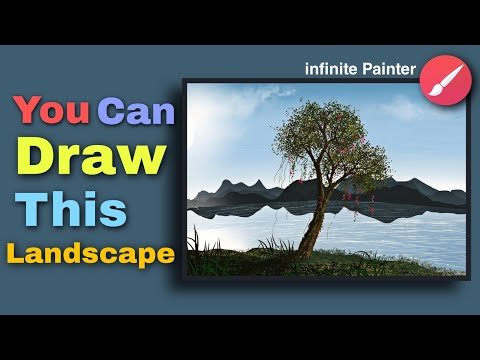 How to Draw on phone | Infinite painter | Digital art | illustrator Landscape
