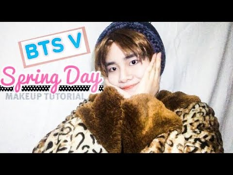 BTS TAEHYUNG V SPRING DAY MAKEUP TUTORIAL YouTube - Bts v hairstyle tutorial