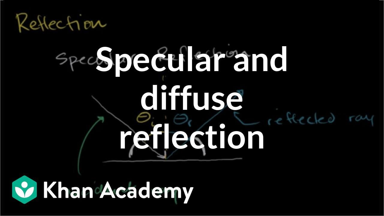 Specular and diffuse reflection (video) | Khan Academy