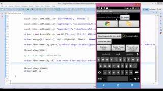 Automate Mobile application using Appium Selenium