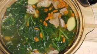 菠菜豬肝湯  Spinach Pig Liver Soup