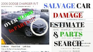 HOW TO Estimate DAMAGE and PARTS COST on SALVAGE CARS!