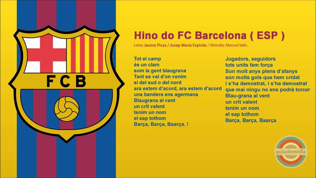 Hino do FC Barcelona  ESP   YouTube