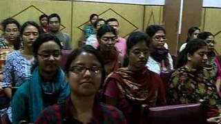 Umesh Chandra Panda guiding students of Botany Deptt of Calcutta University to Meditation