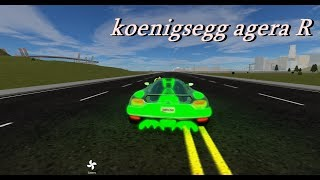 ROBLOX VEHİCLE SİMULATOR // KOENİGSEGG AGERA R // #8