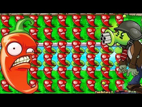 Plants vs Zombies Jalapeno vs Zombotany vs Zombies