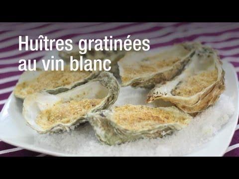recette des hu tres gratin es au vin blanc youtube. Black Bedroom Furniture Sets. Home Design Ideas