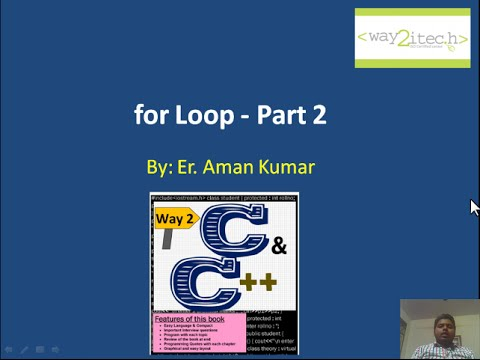 15. For Loop in C and Cpp Programming Language Part 2 By Aman Kumar