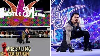 WR3D vs Real Life Roman Reigns Wrestlemania 34 Entrance (Concept)