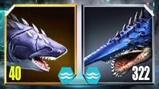 MEGALODON Vs HELICOPRION LEVEL 322 - Jurassic World The Game
