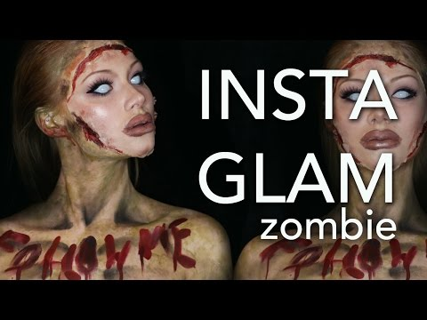 InstaGlam Zombie Makeup Tutorial (Part 2 of InstaGlam) (CC) thumbnail