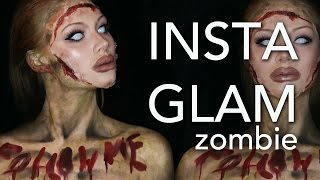 InstaGlam Zombie Makeup Tutorial (Part 2 of InstaGlam) (CC)