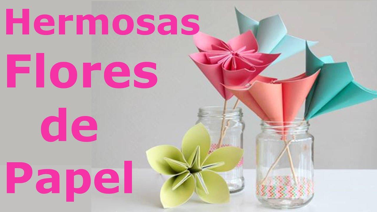 Como hacer flores de papel f cil y rapido youtube - Como hacer cadenetas de papel para fiestas ...