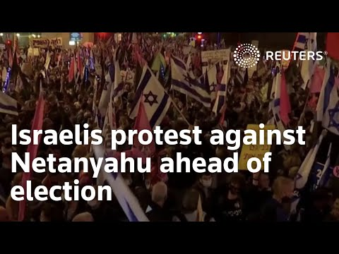 Israelis Protest Against Netanyahu Ahead Of Election